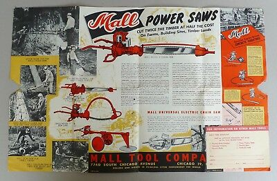 Mall Tool Co. Chicago vintage power tools drills chainsaw chain saw brochure