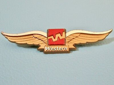 Vintage WESTERN AIRLINES Plastic Wings Given to Children - Excellent