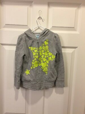Old Navy Heather Grey Girls Light Weight Jacket with Hood Size 5T