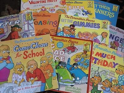 Lot of 10 THE BERENSTAIN BEARS children's picture books Berenstein