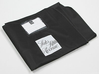 "New! * SAKS FIFTH AVENUE * Black Suit Blazer 23x42"" Garment Bag"
