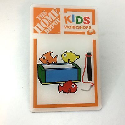 1 HOME DEPOT KIDS WORKSHOPS the Fishing Game Collectible Lapel Apron Pin