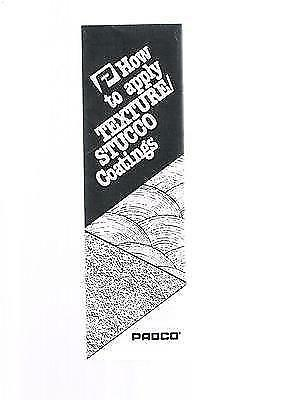 Vintage PADCO Fold-out Brochure-circa 1980's-How To Apply Texture Stucco Coating
