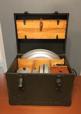 Vtg Circa 1967 US Army Military Officers Field Mess Kit 57 Pieces Plus Case