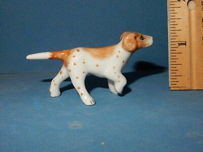 Pointer  Dog  Hand Painted Ceramic  Mini  Figurine