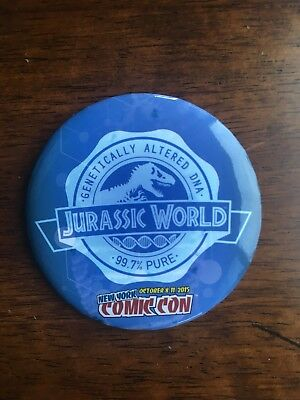 Jurassic World Exclusive Pin Button from New York Comic Con NYCC 2015 T Rex Dino