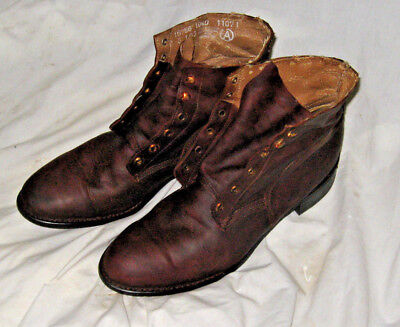 WW1 shoes boots Edwardian gear equipment American German French English 10.5