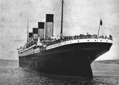 New 4x6 Photo: Stern view of the Ill-Fated White Star Liner RMS TITANIC, 1912