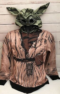 Star Wars Youth Chewbacca Hooded Jacket Size XL Eye Sockets Full Graphics Brown