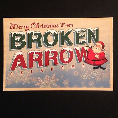 Broken Arrow Oklahoma Christmas Postcard