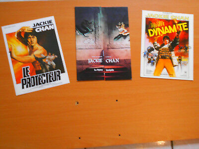 3 Jackie Chan Flyers:  Armour Of God- Half A Loaf Of Kung Fu- Fearless Hyena