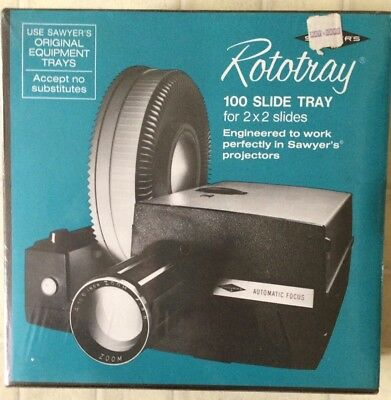 Sawyers Rototray 100 for 2x2 Slides Tray Dust Proof New sealed