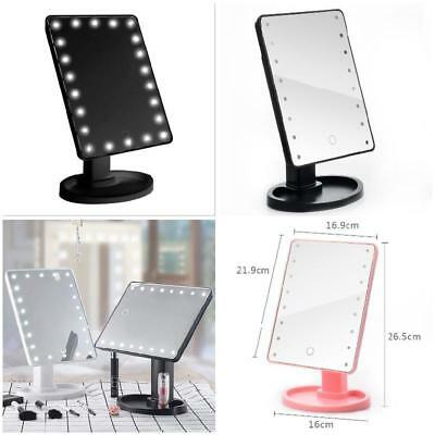 360 Degrees Rotation Makeup Mirror Cosmetic Folding with 16/22 LED Lights Lam