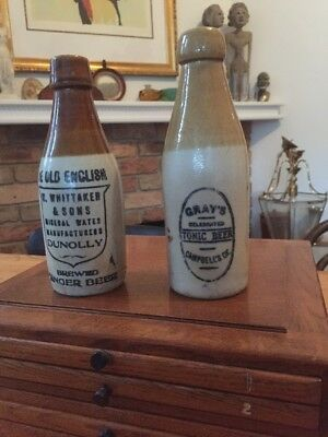 Stone Ginger Beer Bottles X 2 Grays & Dunolly