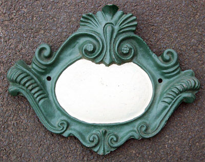 Reclaimed Antique Style Cast Iron Over Door Entrance Way Architectural Cartouche