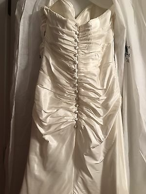 Stunning Wedding Gown Sz 8, Strapless, Sweetheart, White Dress