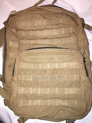 Very Good USMC FILBE ASSAULT PACK USGI 3 DAY SYSTEM COYOTE Bugout CIF Turn in