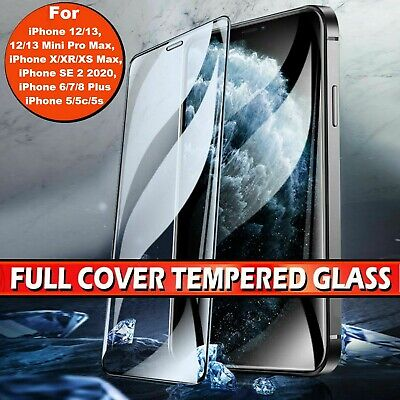 iPhone 7/8 Plus 3D Full Edge WHITE BLACK Tempered Glass Screen Protector Case