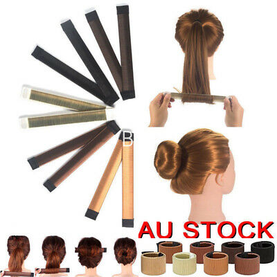 French Hair Bun Maker Magic Bands Twist Easy Snap Tool Former DIY Styling Donut