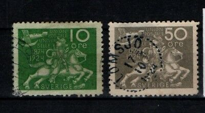 Sweden 1924 Universal Postal Union 10 ore and 50 ore SG 162, 170 Used