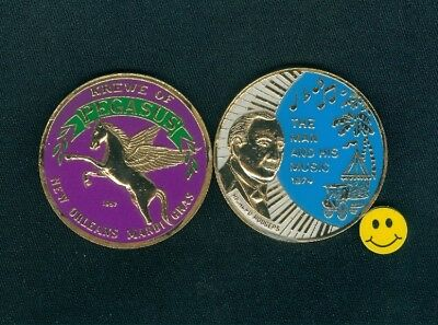 1974 Krewe Of Pegasus 1st Year Multi Color Mardi Gras Doubloon Coin