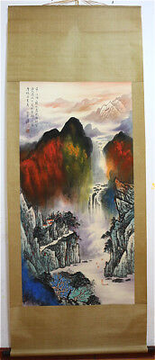 Excellent Chinese Hand-Painted Painting&Scroll Splash Color By Zhang Daqian AL7