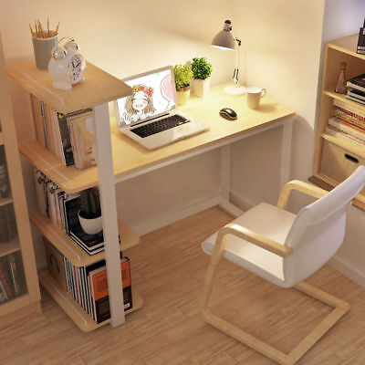 Computer Desk with 4 shelves PC Table Home Office Study Workstation Wood Color
