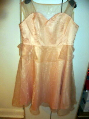 LINDY BOP Prom Dress  Peach  size 26 BNWT