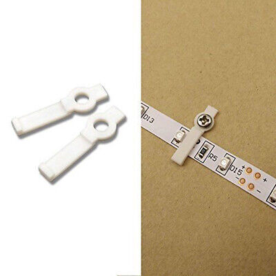 100 × Mounting Bracket 8mm/10mm Fixing Clip for 3528 5050 5630 LED Strip w/Screw