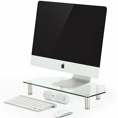 Adjustable PC Monitor, Laptop, Computer and TV Riser Stand Desktop Organizers