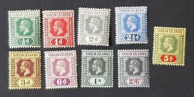 BRITISH VIRGIN ISLANDS. 1913/19 KGV. Mint Hinged Stamps