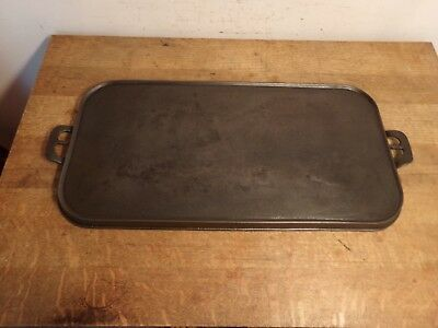 ANTIQUE GRISWOLD CAST IRON LONG GRIDDLE #10 Large Slant Logo ERIE 747, RESTORED