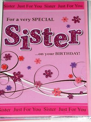 SISTER BIRTHDAY CARDS x 12, JUST 29p, CODE 75, FOILED ( B296