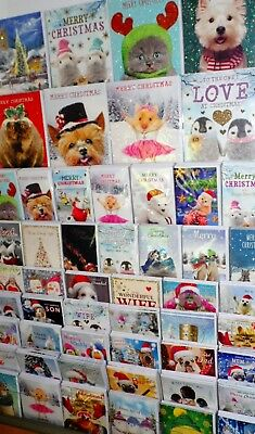 360 SUPERB CHRISTMAS CARDS, JUST 30p! - 3 SIZES, 'TRACKS' WRAPPED, MIXED TITLES