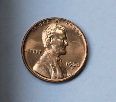 1960 D Lincoln Memorial Small Date Cents Unc  Collectible Birthday Gift Idea 102