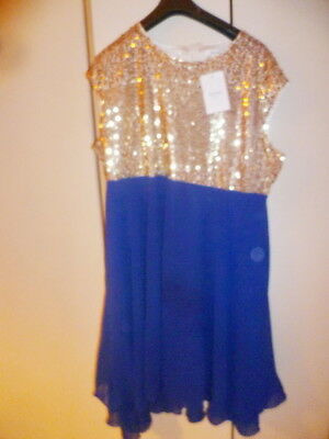 Nextmia Prom/Evening   Dress  Blue/Sequins  size 26 bnwt