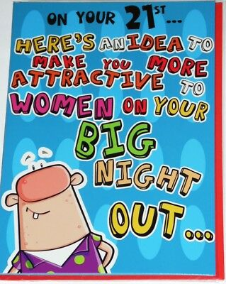 MALE 21st BIRTHDAY CARDS x 12, JUST 29p, CODE 75, FOILED ( B265