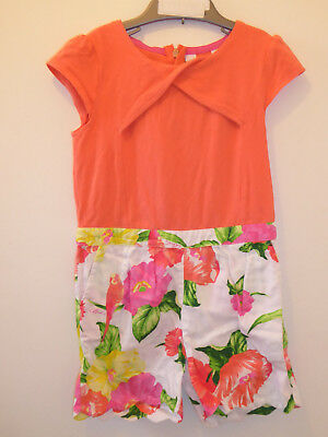 TED BAKER -  Girls Coral Floral DESIGNER Jumpsuit Playsuit Outfit 5-6 Years