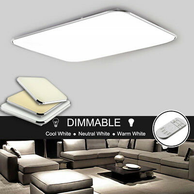 Dimmable LED Ceiling Mount Lights Slim Cool/Warm White Bedroom Living Room Lamps