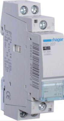 HAGER Contactor for use in a Smart Home Automation Device, Relay Control NO NC