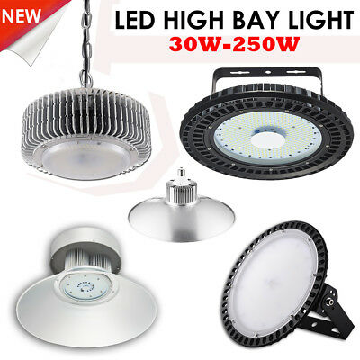 Led High Bay Light Day White 6000K Warehouse Industrial Comercial Factory Lights