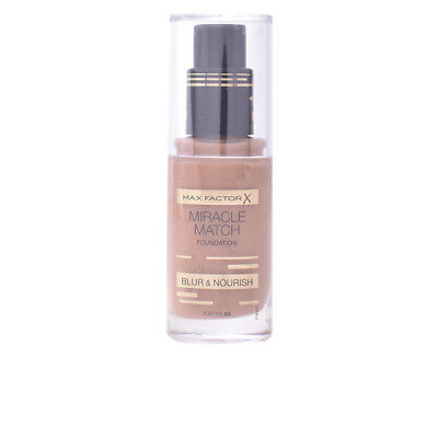 Maquillaje Max Factor mujer MIRACLE MATCH BLUR & NOURISH foundation #90-toffee