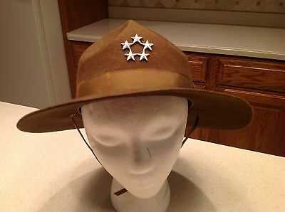 Military Hat AWESOME FIND Five 5 Star Vintage Officers Hat  1944 Very Clean