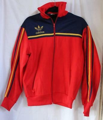 Vintage Retro Collectors Classic Adidas Red 3 Stripes Training Jacket Track 18