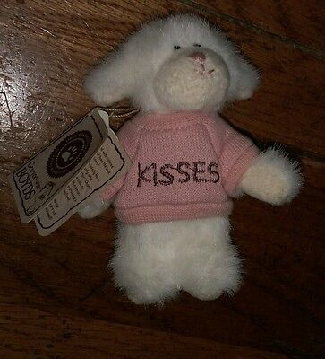 Boyd's Bears plush miniature lamb with original tags Kisses Puckerup Head Bean