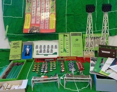 Vintage Subbuteo JOB LOT. 4 complete teams, part teams, 3 pitches, & accessories