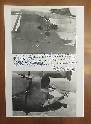 SIGNED ACE ROBERT JOHNSON 56TH FIGHTER GROUP AUTOGRAPH superb P-47 WW2 CONTENT