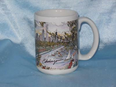 Mark McMahon Chicago Art Mug Lake Shore Skyline Marina Silver Phoenix Linyi
