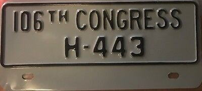 District of Columbia Congressional license plate 106th Congress U.S. House