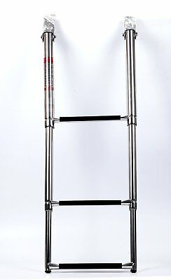 3 Step Telescoping Stainless Steel Marine Boat &Yacht Ladder Swim Step Timeproof